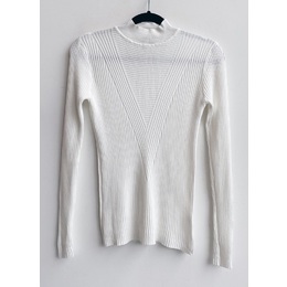 Blusa lã V branca