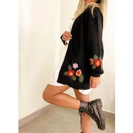 Casaco flores black
