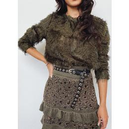 Blusão Zara pelinho militar