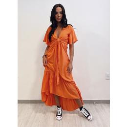 Vestido midi orange