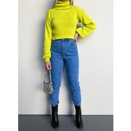 Calça mom jeans médio