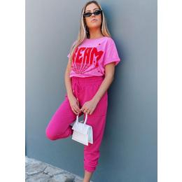 Calça jogger pink