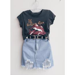 Saia jeans Luna ice