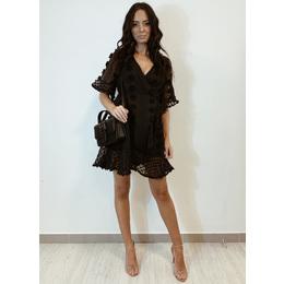 Vestido Polka black