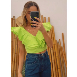 Cropped Sophie Lima neon
