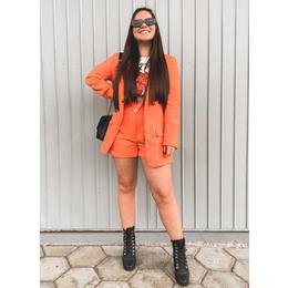 Shorts linho orange