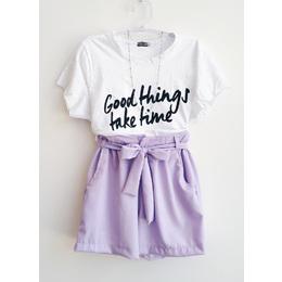 Shorts clochard lilás