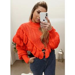 Blusão zara coral neon