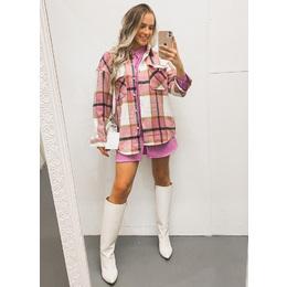 Camisa flanela Rosa