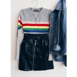 Blusa rainbow mescla