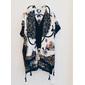 Kimono lenço marinho