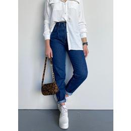 Calça baggy jeans escuro