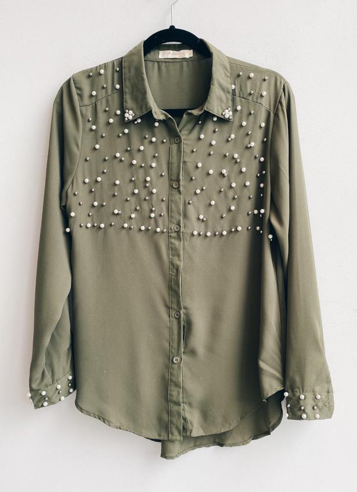 Camisa bordada militar