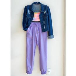 Calça jogger lilás