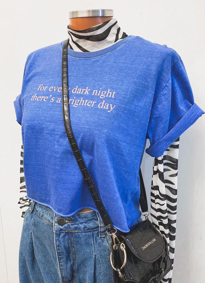 Tee Cropped Night blue