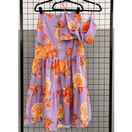 Conjunto floral lilás