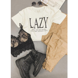 Tee Cropped Lazy