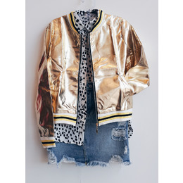 Bomber metal gold