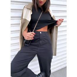 Calça slouchy black
