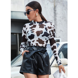 Cropped Tule vaca