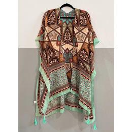 Kimono lenço acqua