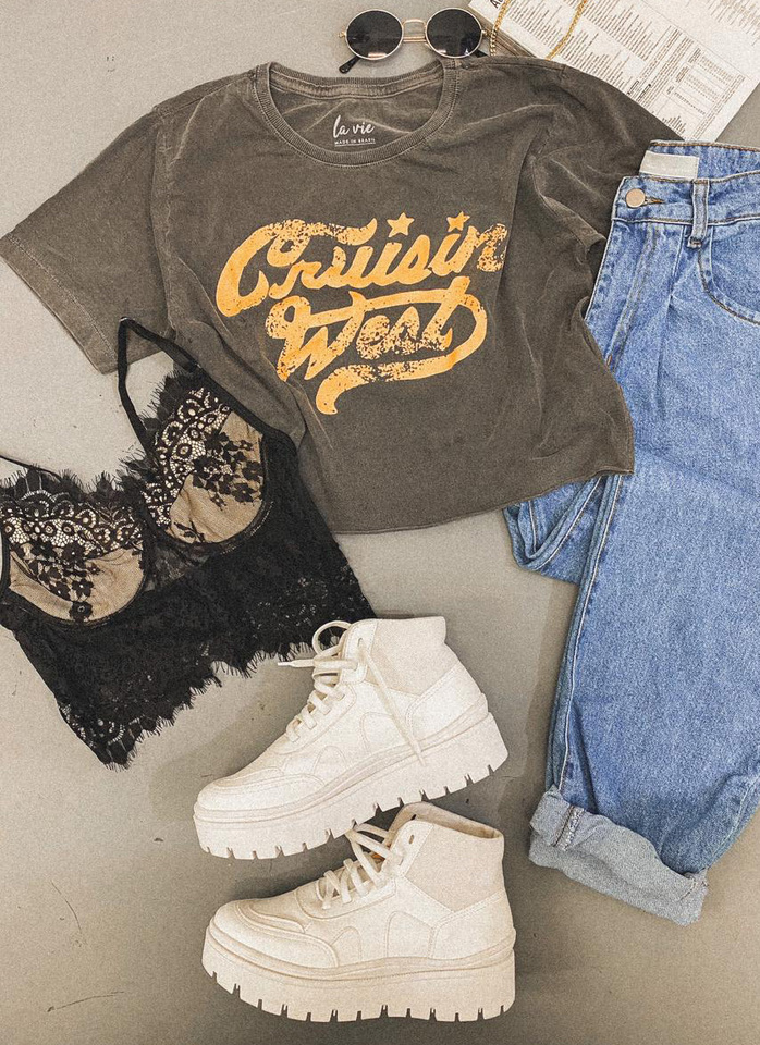 Tee Cropped West