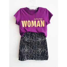 Tee Woman roxa