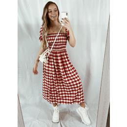 Vestido Dai xadrez