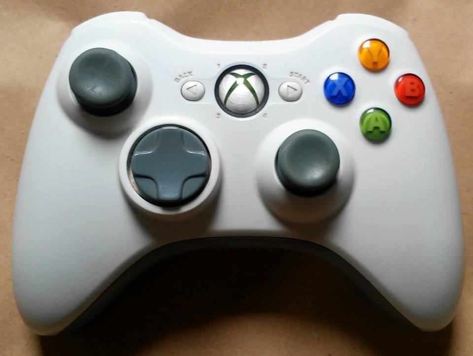 Controle Xbox 360 Microsoft Branco Sem Fio Wireless Seminovo