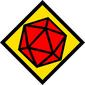 Placa Decorativa RPG Dado D20