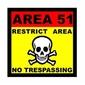Placa Decorativa Area 51 No Trespassing