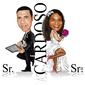 CARICATURA DE CASAMENTO  COM CORPINHO PRONTO SR. E SRA. SMITH