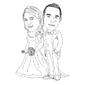 Caricaturas Super Promoção Traços Casal com prazo de urgência