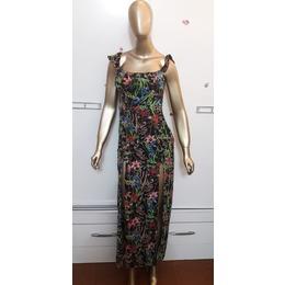 fa46c52ce Vestido floral com shortinho e fenda - queima de estoque
