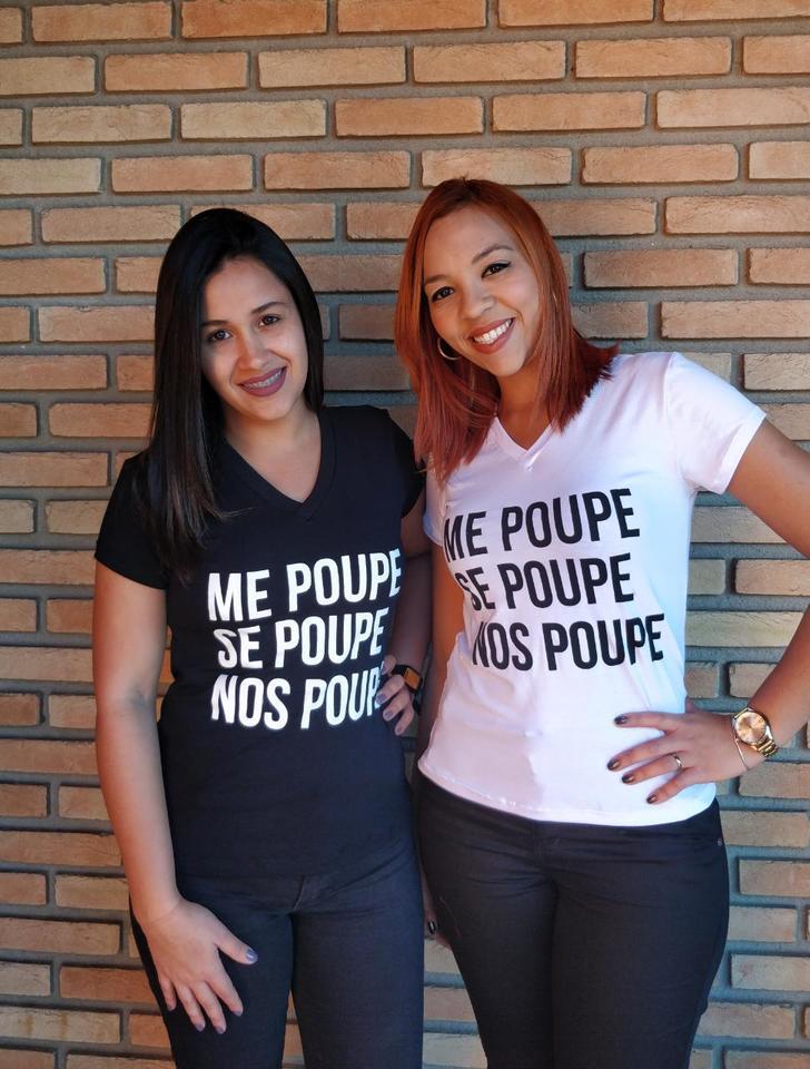 Blusinha T Shirt Me Me Poupe Se Poupe Fignana Atacado