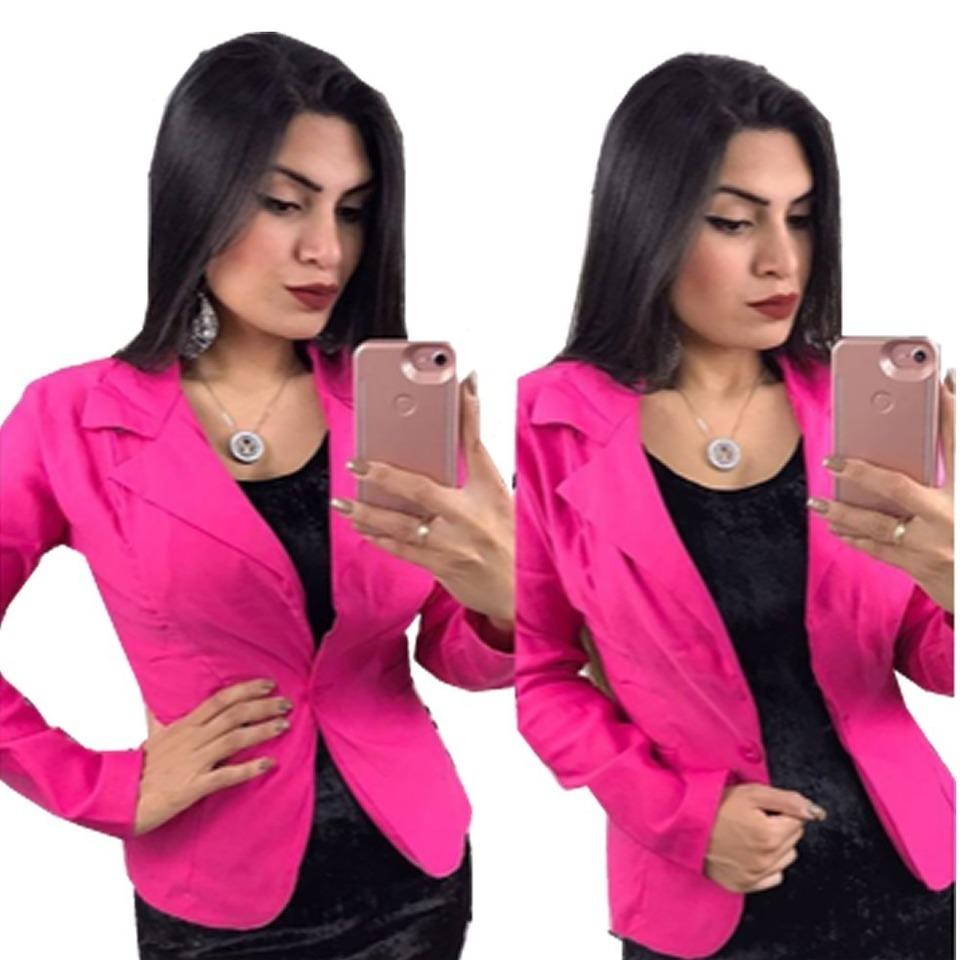 811d15c6b3 Blazer Feminino colorido ( Liso ) - FIGNANA ATACADO