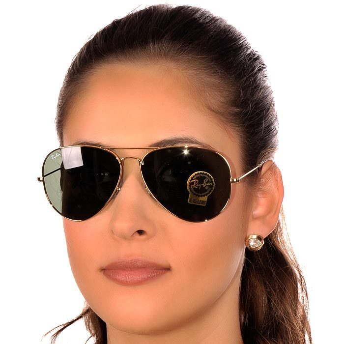 Óculos Ray Ban aviador lentes escura - Entrega imediata - Cosméticos ... 6b7ea89801