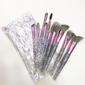 Kit com 10 Pincéis cabos transparente com Glitter