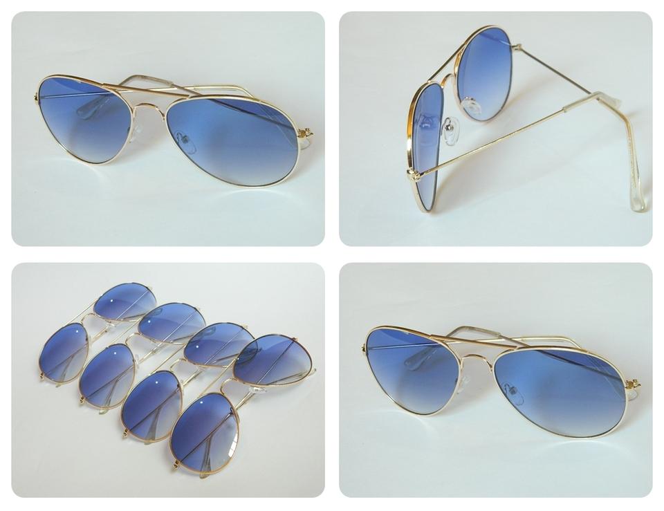 Óculos estilo Ray Ban aviador lente azul - Só R   24,99 Entrega ... fd3df596f6