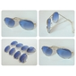 Óculos estilo Ray Ban aviador lente azul - Só R$: 24,99  Entrega imediata!