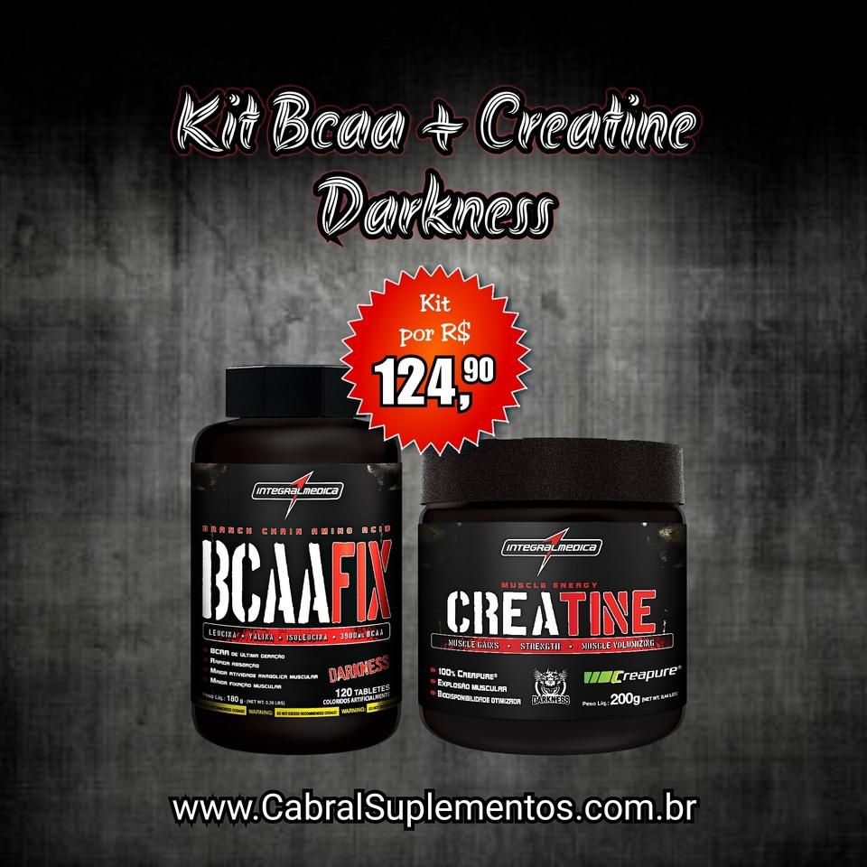 ce86ddcbb KIT BCAA + CREATINE DARKNESS - Cabral Suplementos