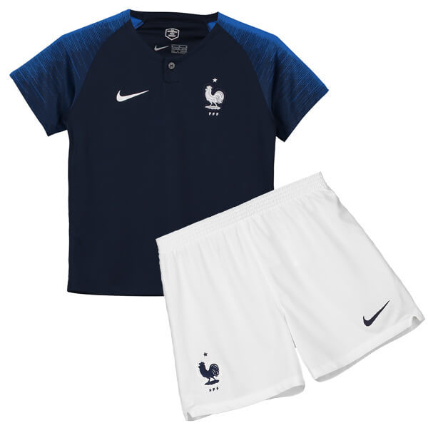 Uniforme Infantil da Seleção da França - 2018 - Home - Oficial - Personalização e Frete Grátis