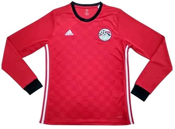 Camisa da Seleção do Egito - Manga Longa - Home - 2018 - Personalização e Frete Grátis