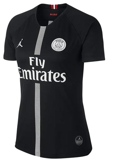 Camisa do PSG (Paris Saint Germain) Third Preta - Jordan Collection - 2018 / 2019 - Personalização e Frete Grátis