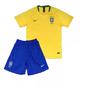Uniforme Infantil da Seleção Brasileira Brasil 2018 - Home - Oficial