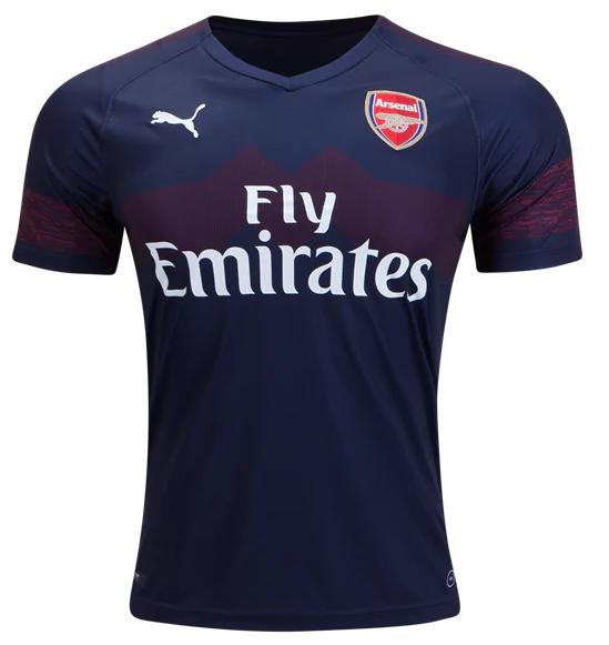 Camisa do Arsenal - Away - 2018 / 2019 - Personalização e Frete Grátis