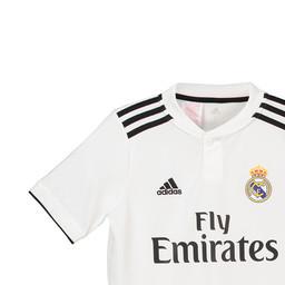 66f4d4437 Uniforme Infantil do Real Madrid Oficial Home 2018   2019 Personalização e  Frete Grátis ...