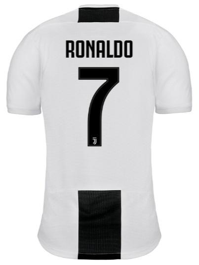 Camisa da Juventus Home - 2018 / 2019 - RONALDO 7 - Frete Grátis