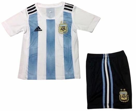 4df1cb6cf Uniforme Infantil da Seleção Argentina 2018 - Home - Oficial Uniforme  Infantil da Seleção Argentina 2018 - Home - Oficial