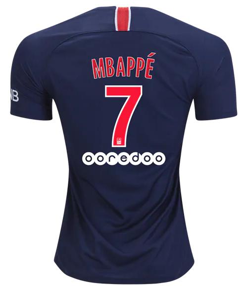 Camisa do Paris Saint Germain PSG da França - Home - 2018 / 2019 - Mbappe 7 - Frete Grátis